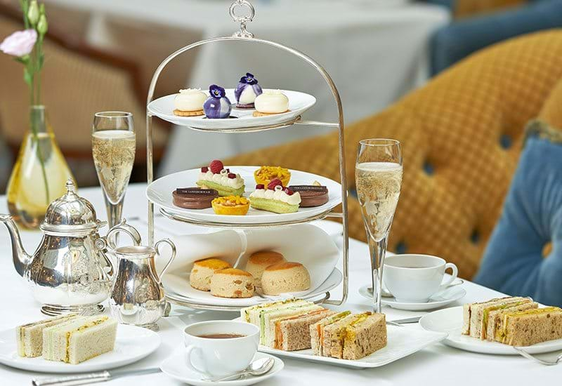 The Lanesborough London Back to Classic Afternoon Tea Three Tier Platter Of Pastries